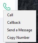 contact details call right click