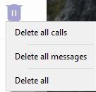 delete history menu